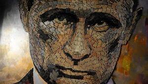 Художница изобразила войну в портрете Путина из 5000 фронтовых гильз