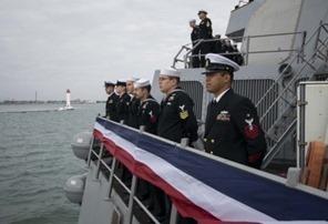 Эсминец США, участвовавший в Иракской войне, зашел в порт Одессы