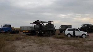 Участники гражданской блокады оккупированного Крыма препятствуют ремонту опоры высоковольтной линии в Херсонской области и расценивают свои действия как начало энергетической блокады.