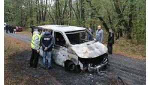 Сгоревшую инкассаторскую машину начали разрезать ради тел погибших