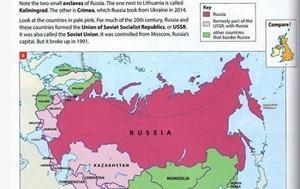 В атласе научного издательства Британии Крым стал частью РФ