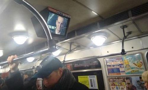 Хакеры взломали мониторы киевского метро, разместив снимок Мориарти