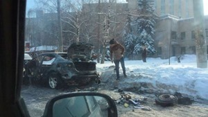 В Харькове неизвестные сожгли авто адвоката «Топаза»