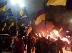 На Донбассе отпраздновали день рождения Бандеры