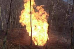 На Закарпатье взорвался и горит магистральный газопровод «Союз»