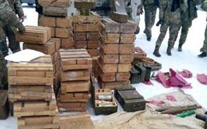 Под Курахово СБУ обнаружила огромный схрон с боеприпасами боевиков