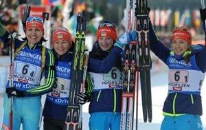 Украинская сборная по биатлону завоевала золото на Кубке IBU