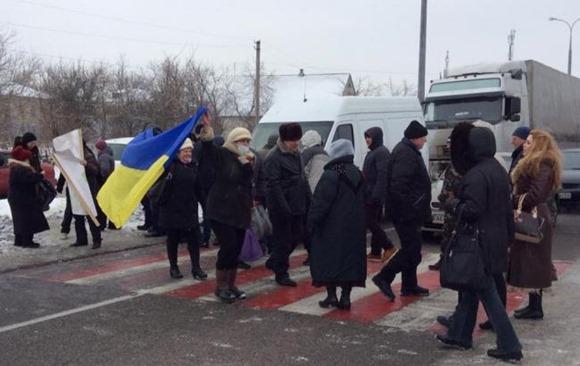 Трасса Днепропетровск-Донецк перекрыта активистами из Новомосковска