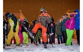 Одесситы сделали из Потемкинской лестницы горнолыжный спуск