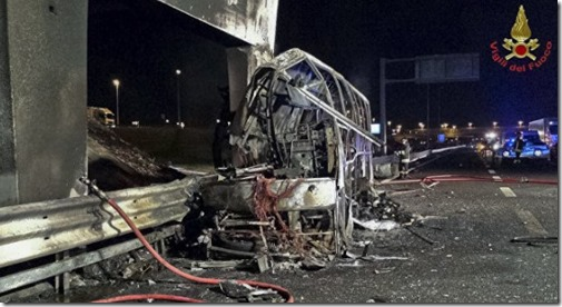 Жертвами ДТП вИталии стали 16 человек, среди погибших подростки изВенгрии