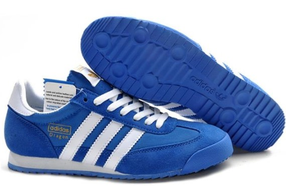 Синие кроссовки adidas dragon