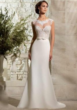 Белое свадебное платье для стройной фигуры