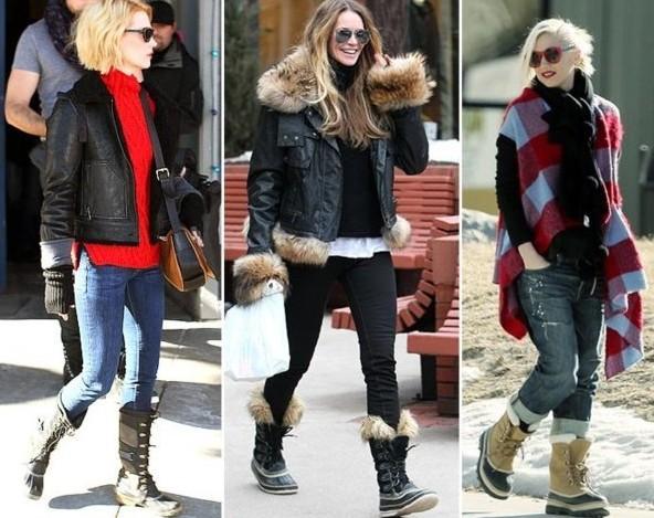 Девушки в зимних сапогах
