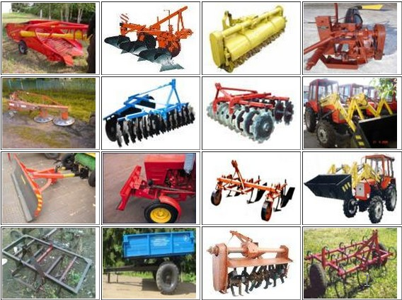 виды навесного оборудования для трактора